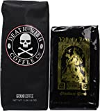 Death Wish Coffee & Valhalla Java Variety Bundle Deal, Fair Trade and USDA Certified Organic, Ground Coffee Beans