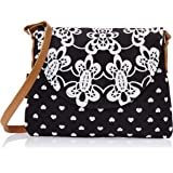Kanvas Katha Women's Sling Bag (Black) (KKPUS/AMZ/07)