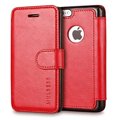 size 40 add47 d1a9d iPhone 5C Case,Mulbess Pu Leather Flip Case Cover For Apple iPhone 5C,Wine  Red