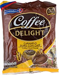 Colombina Coffee Delight 100% Colombian Coffee Hard Candy (Pack of 50)