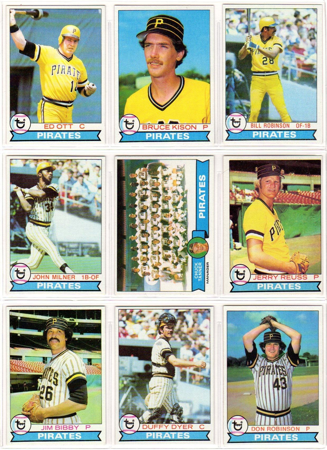 Pittsburgh Pirates 1979 Topps Baseball Team Set (World Series Champions) (27 Cards) (Willie Stargell) (Dave Parker) (Kent Tekulve) (Bert Blyleven) (Manny Sanguillen) (John Candelaria) (Rennie Stennett) (Phil Garner)