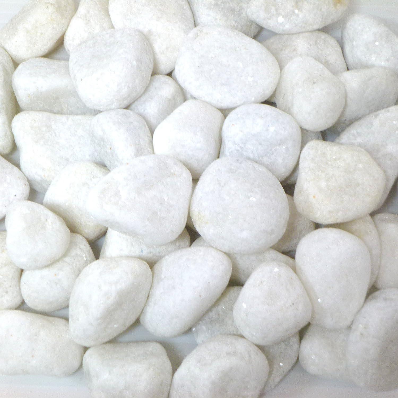 お庭にぴったりとっても綺麗なパールホワイト化粧玉石pe02