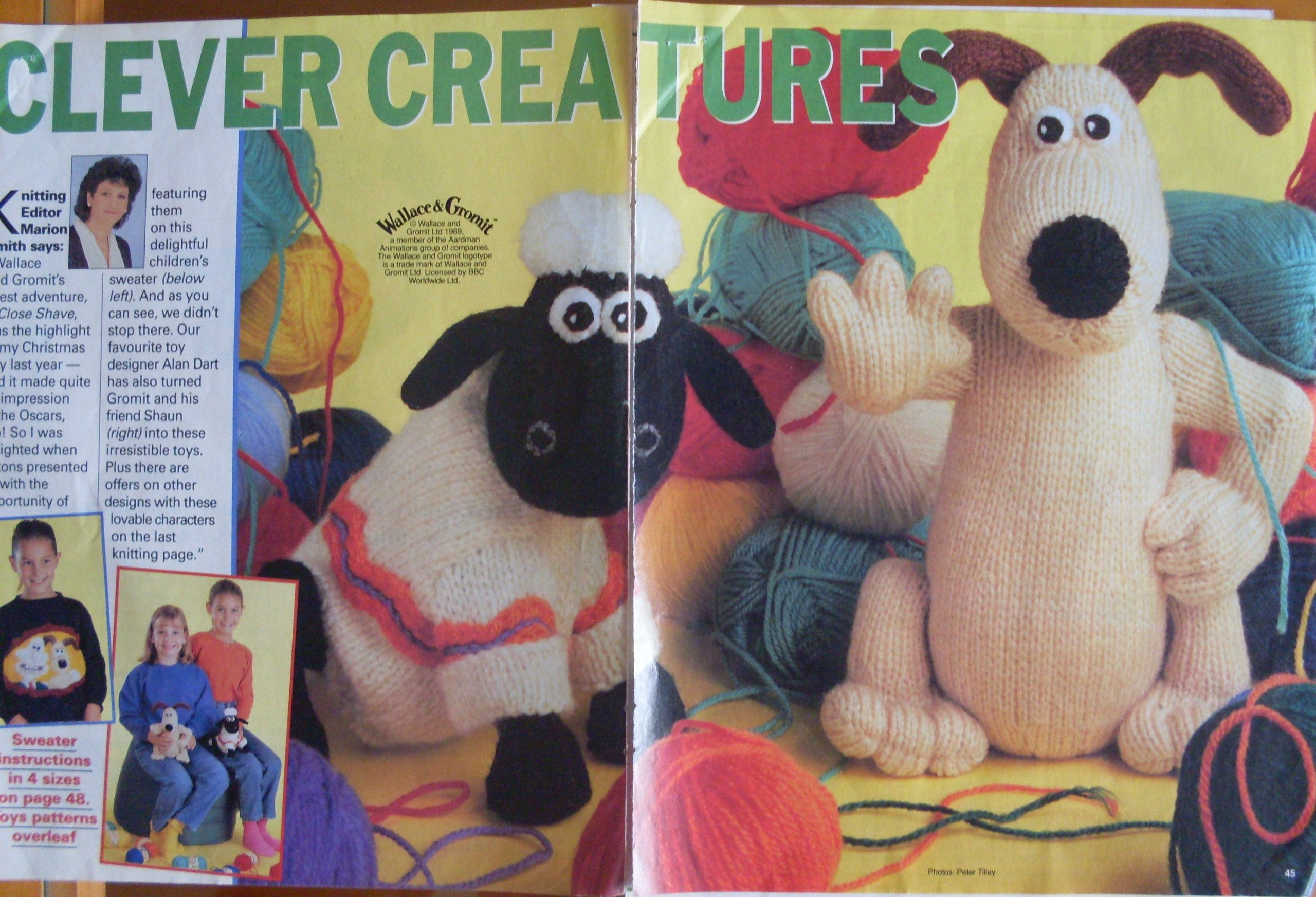 Clever creatures Alan dart woman\'s weekly pullout wallace and gromit ...