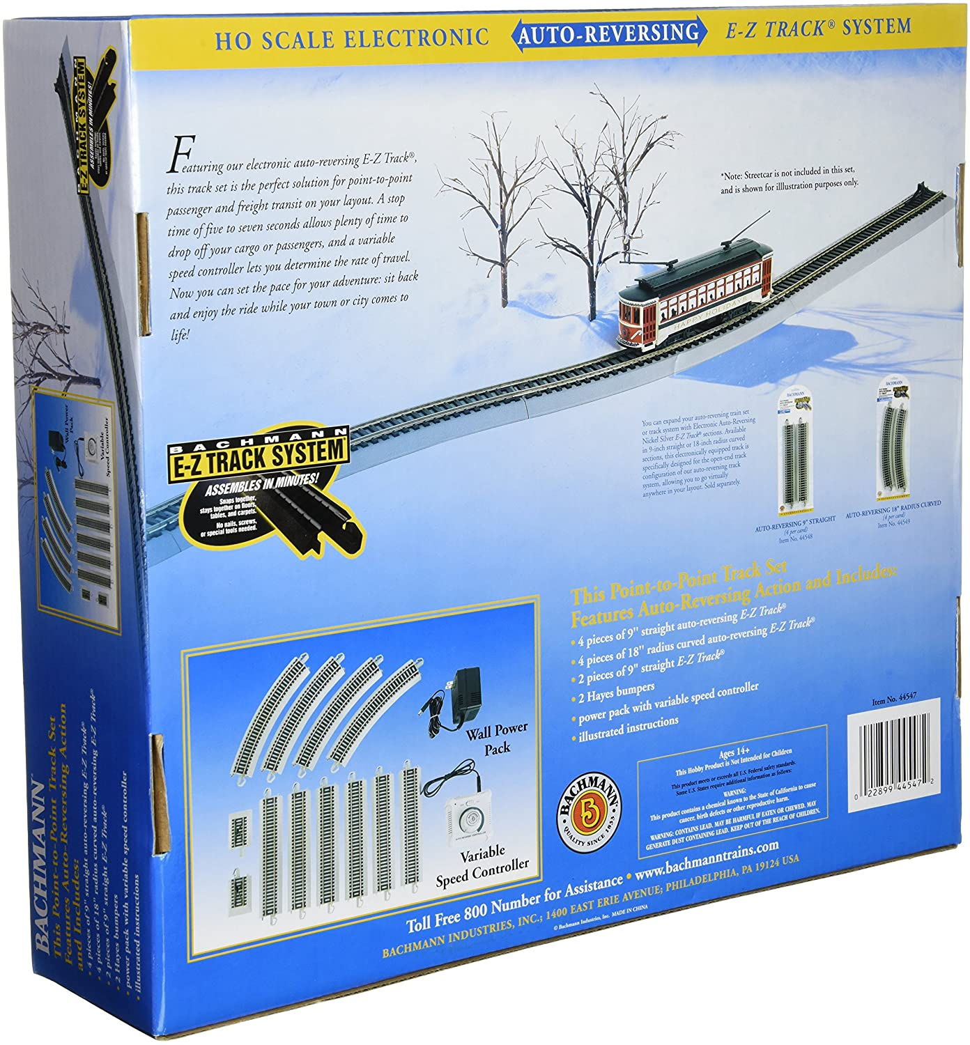 Amazon.com: Bachmann Trains Nickel Silver E-Z Track Reversing System-Ho  Scale: Toys & Games