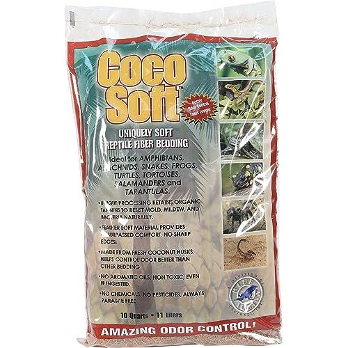 Carib Sea SCS00210 Coco Soft Reptiles Bedding, Fiber, 10-Quart