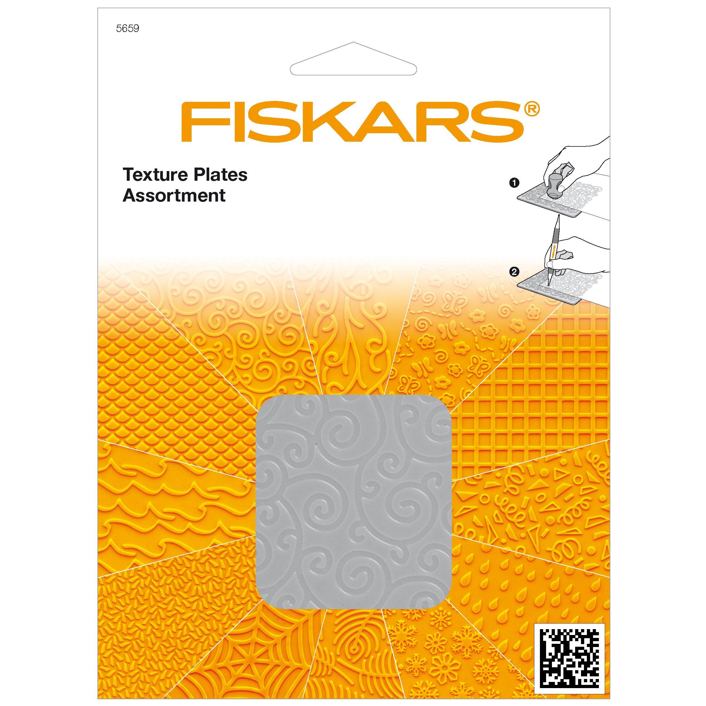 Fiskars Texture Plate Assortment II, 6 Pack (12-56597097)