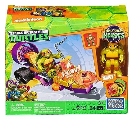 Mega Bloks DMW42 - Figura de Juguete Teenage Mutant Ninja Turtles Half-Shell Heroes Mikeys Jet Cruiser