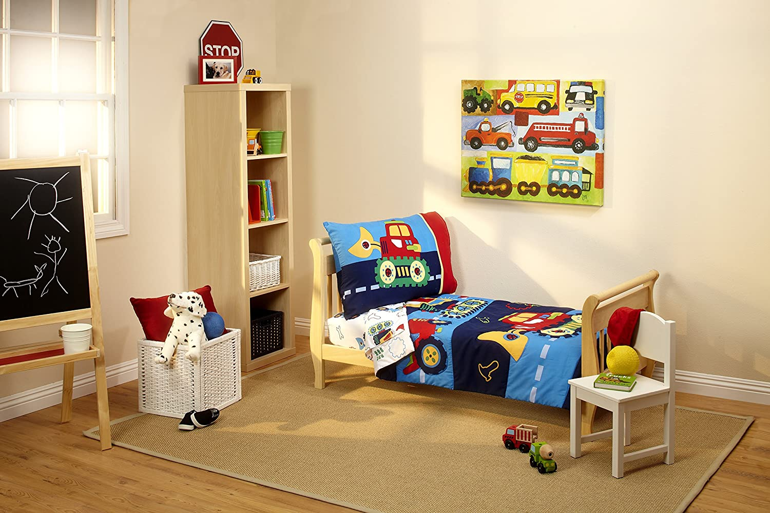 Bulldozers Dump Trucks Gears And Wrenches The Everything Kids Under Construction 4 Piece Toddler Bedding Set