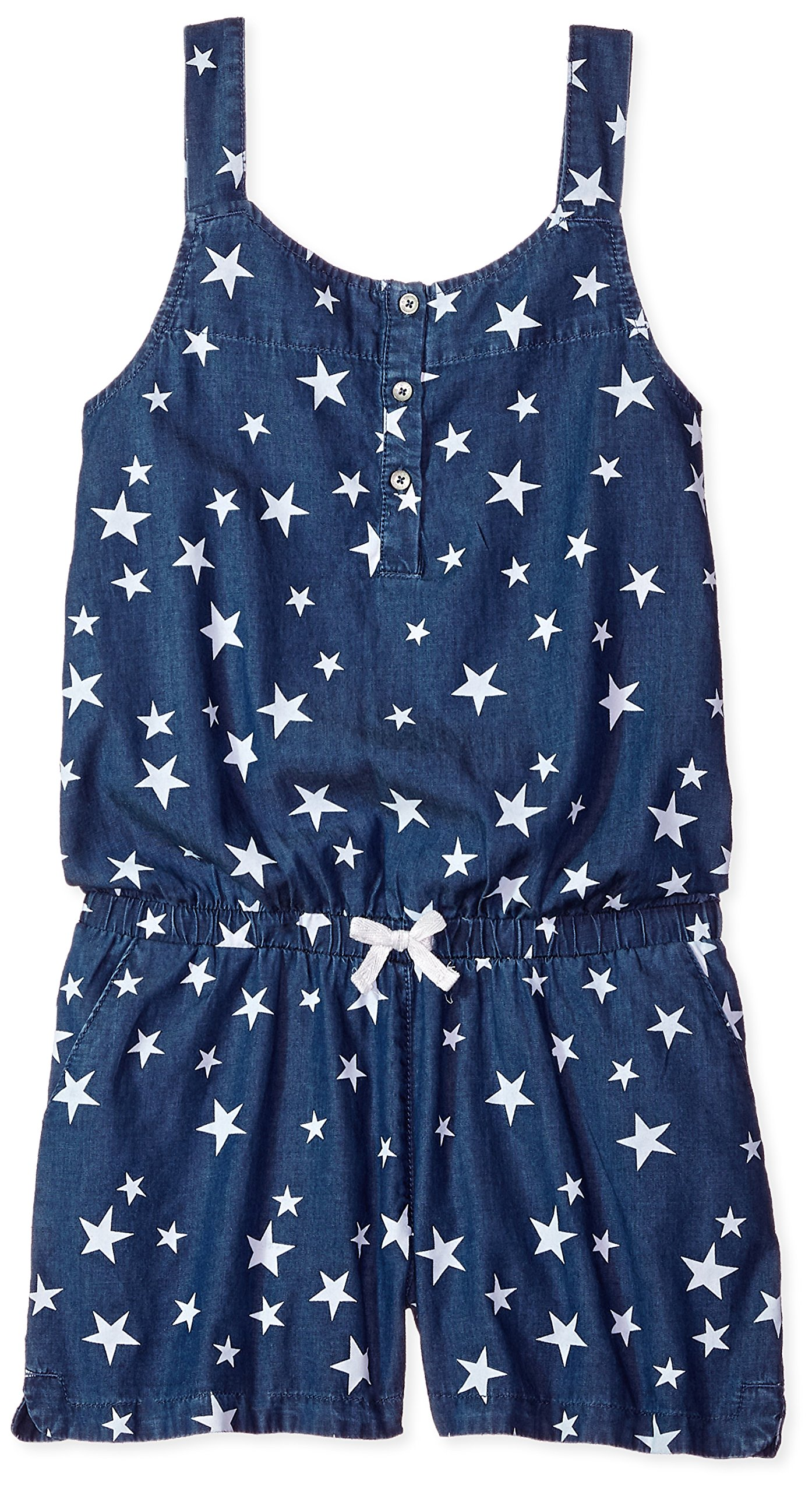 Levi's Big Girls' Romper, Blue Winds Stars, XL