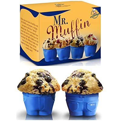 Set of 6 Mr Muffin Bake Cups with FREE EBook Gourmet Cupcakes