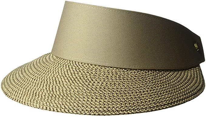 Eric Javits Luxury Women s Designer Headwear Hat - Champ Visor - Bark e45a90028