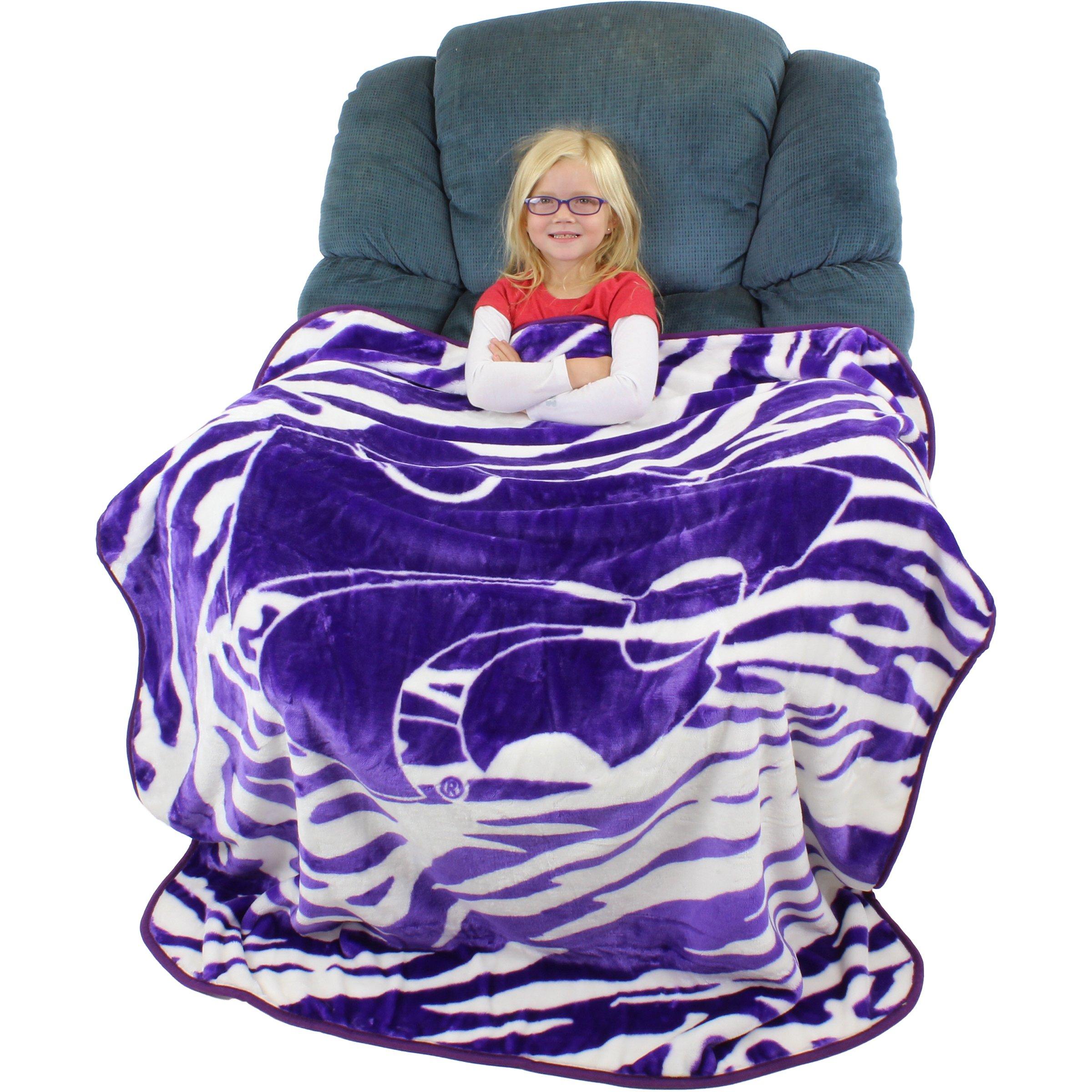 College Covers Kansas State Wildcats Super Soft Raschel Throw Blanket, 50'' x 60''