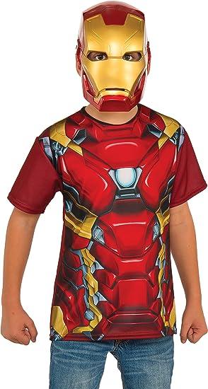 Kit disfraz de Iron Man Capitán América Civil War para niño ...