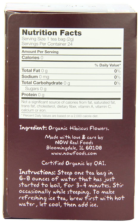 Amazon Now Foods Organically Hip Hibiscus Tea 24 Count