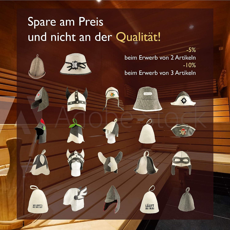 "felt sauna hat. DIYer includes sauna guide /""How does it run with you so?/"" Sauna hat motif inscription 100/% cotton"
