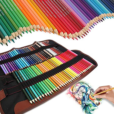 72 Coloured Pencils Art Set Iyowin Colored Pencil Sets Adults