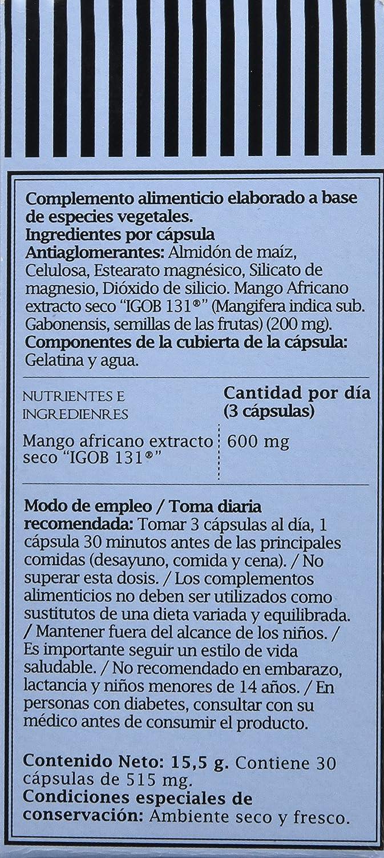 PRONUTRI Two Pack Mango Africano 30 cápsulas: Amazon.es: Salud y cuidado personal