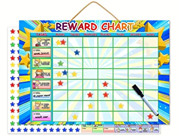 graphic about Loop Schedule Printable called Magnetic Benefit Chart Dry Erase Finding out Toy Chore Chart Or Endeavor Planner  Stimulate Wonderful Conduct and Accountability Huge Buttons For Minimal