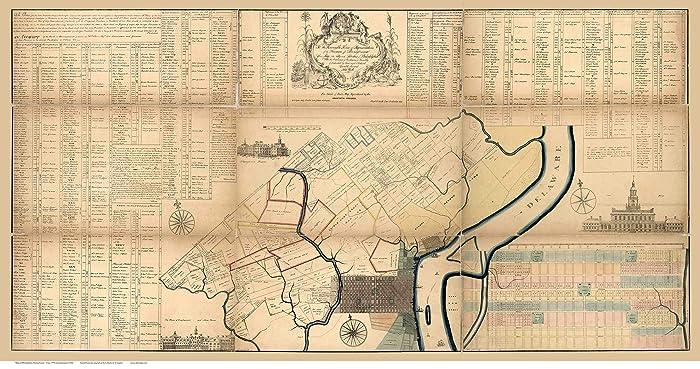 Amazon.com: Philadelphia ca. 1774 - Old Map Reprint ...