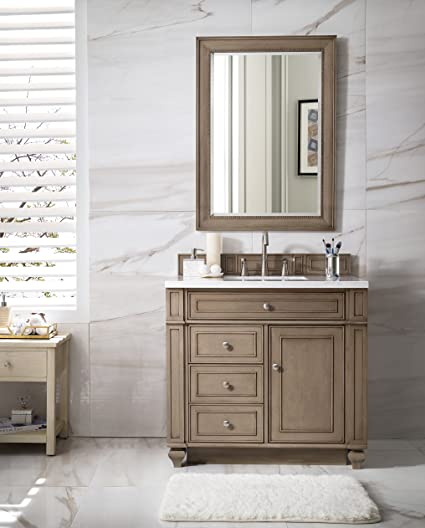 Merveilleux James Martin Bristol 36u0026quot; Single Bathroom Vanity In Whitewashed Walnut  (Top Not ...