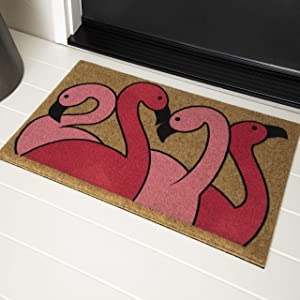 Mohawk Home Pinchededge Fancy Flamingos Seasonal Mat