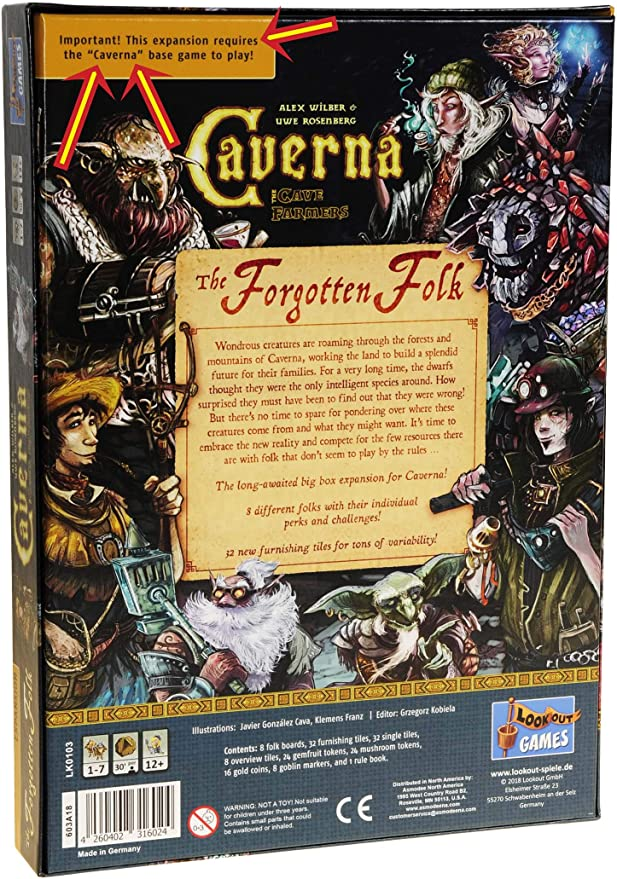 The Forgot Folk Expansion for Caverna Game || Requiere Caverna el ...