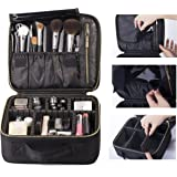 ROWNYEON Makeup Bag Makeup Case EVA Professional Makeup Artist Bag Makeup Train Case Makeup Organiser Bag (Small, Black)