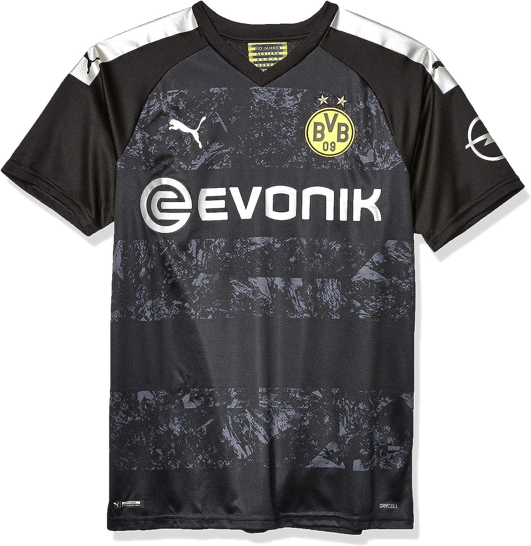 Opel Logo PUMA Mens Standard Borussia Dortmund BVB Away Replica Shirt with Evonik