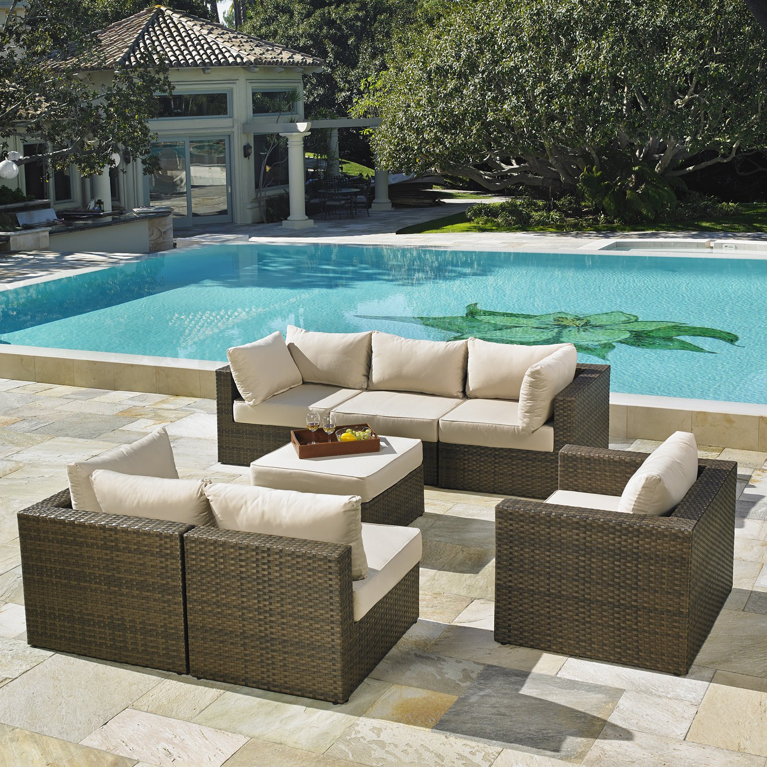 Mission Hills San Clemente 7 Piece Deep Seating Patio Set: Amazon.ca: Patio,  Lawn U0026 Garden