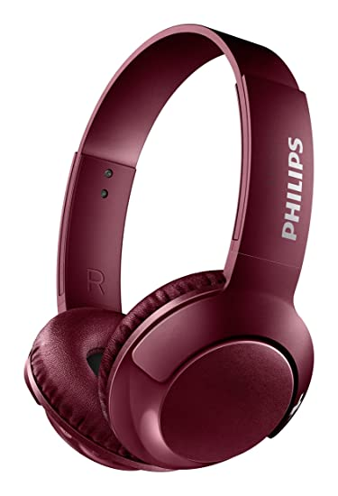 Philips SHB3075RD - Auriculares Inalambricos (Bluetooth, con micrófono, aislantes de Ruido, Plegables, 12 h de reproducción) Rojo: Amazon.es: Electrónica