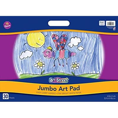 "Art Street Jumbo Art Pad, White, 22\"" x 16\"", 30 Sheets: Arts, Crafts & Sewing [5Bkhe1000022]"