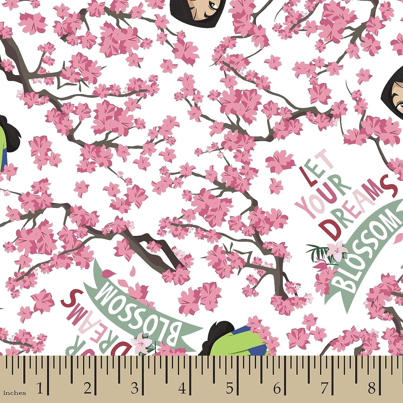 Princess Mulan 66995 Dreams Blossom 100/% Cotton Fabric By the yard