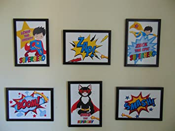 Framed Personalised Superhero Wall Art