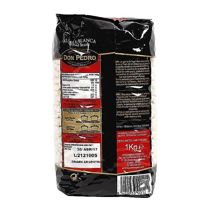 DON PEDRO alubias blancas paquete 1 Kg: Amazon.es: Alimentación y bebidas
