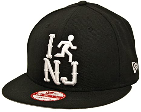 Image Unavailable. Image not available for. Color  New Era 9Fifty I Run New  Jersey NJ Black Snapback c7af0cfd5a8f