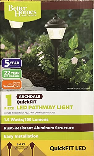 Better Homes and Gardens 1-Piece ARCHDALE QuickFIT LED Pathway Light