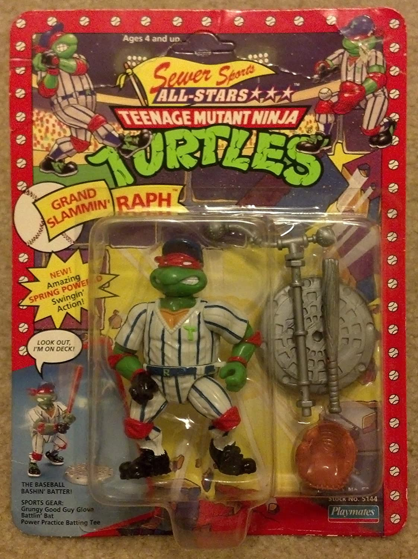 PlayMates 1991 Teenage Mutant Ninja Turtles Sewer Sports All-Stars Grand Slammin Raph