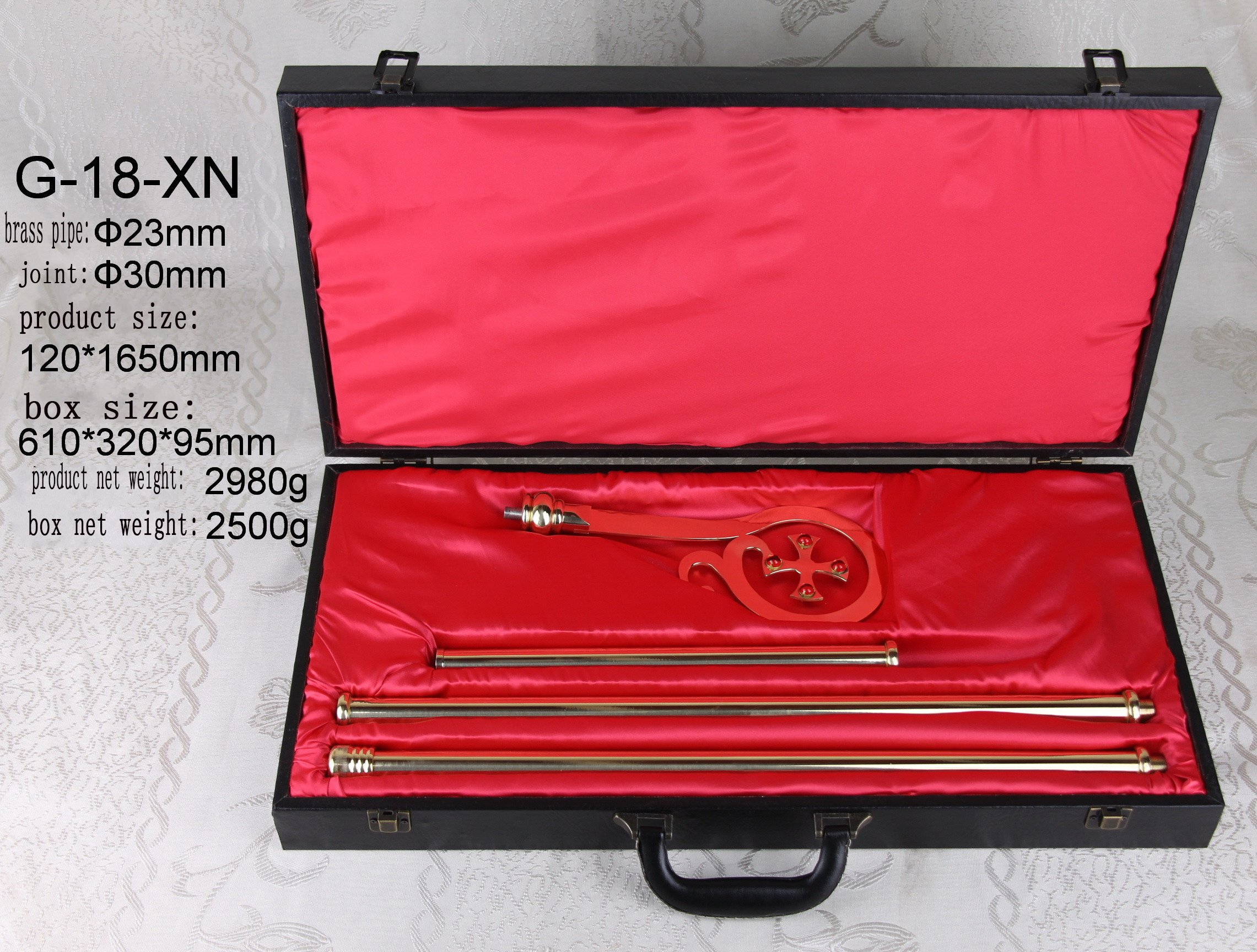 65'' Bishop's Crosier Staff in Case Brass High Polished G-18-XN. Our company have 48 kinds of crozier for your choice.