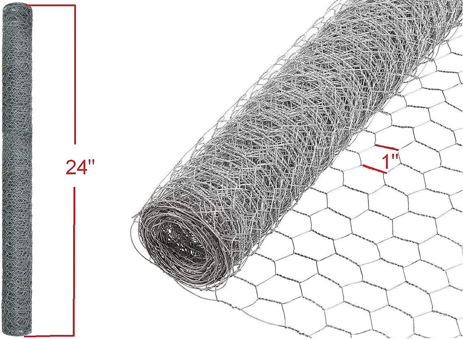 Poultry Netting 2 in x 5 ft x 50 ft Chicken Wire Metal Mesh Garden Plant Fence