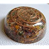 Orgone Energy Chakra Reversible Dome Coaster Charging Plate- EMF Protection