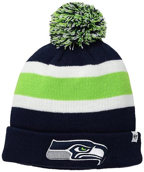 a12573bb09cb2 Amazon.com   NFL Seattle Seahawks  47 Brand Breakaway Cuff Knit Hat ...