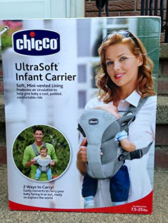 a2cdf285920 Amazon.com   Chicco UltraSoft 2-Way Infant Carrier - Gray   Child Carrier  Front Packs   Baby