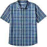Amazon Essentials Men's Big & Tall Short-Sleeve Plaid Casual Poplin Shirt Fit by DXL