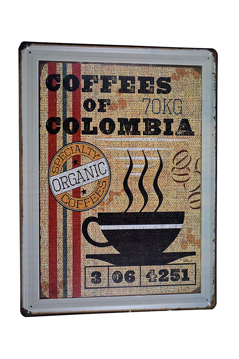 Amazon.com: H&K Coffee Around The World Retro Metal Tin Sign Posters Café Diner Restaurant Wall Decor 12X16-Inch: Home & Kitchen