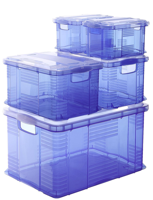 Rotho 1793300096 Couvercle pour Bo/îte Syst/ème A3 Agilo Plastique Transparent 45 x 35 x 25 cm