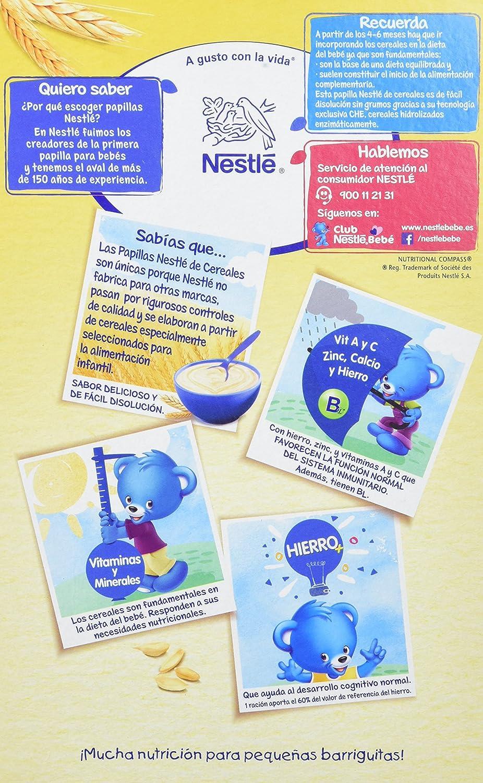 NESTLÉ Papilla 8 cereales - Alimento para Bebés - Paquete de 6 x 600 gr - Total: 3.6 kg: Amazon.es: Alimentación y bebidas