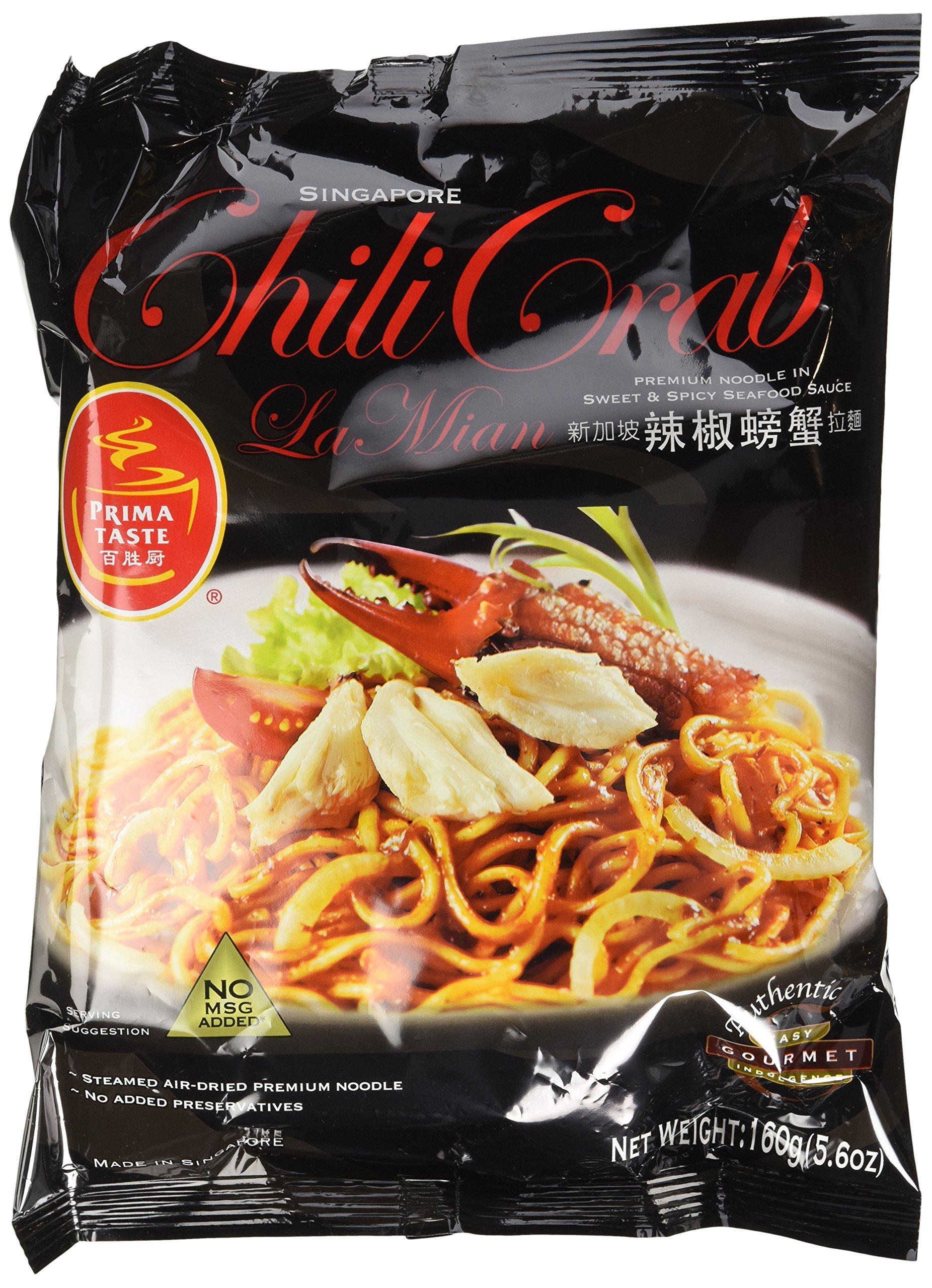 Prima Taste Singapore Chilli Crab Lamian Noodles, Pack of 12