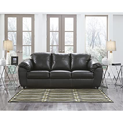 amazon com flash furniture benchcraft fezzman sofa in black leather rh amazon com benchcraft leather couch benchcraft leather sofa reviews
