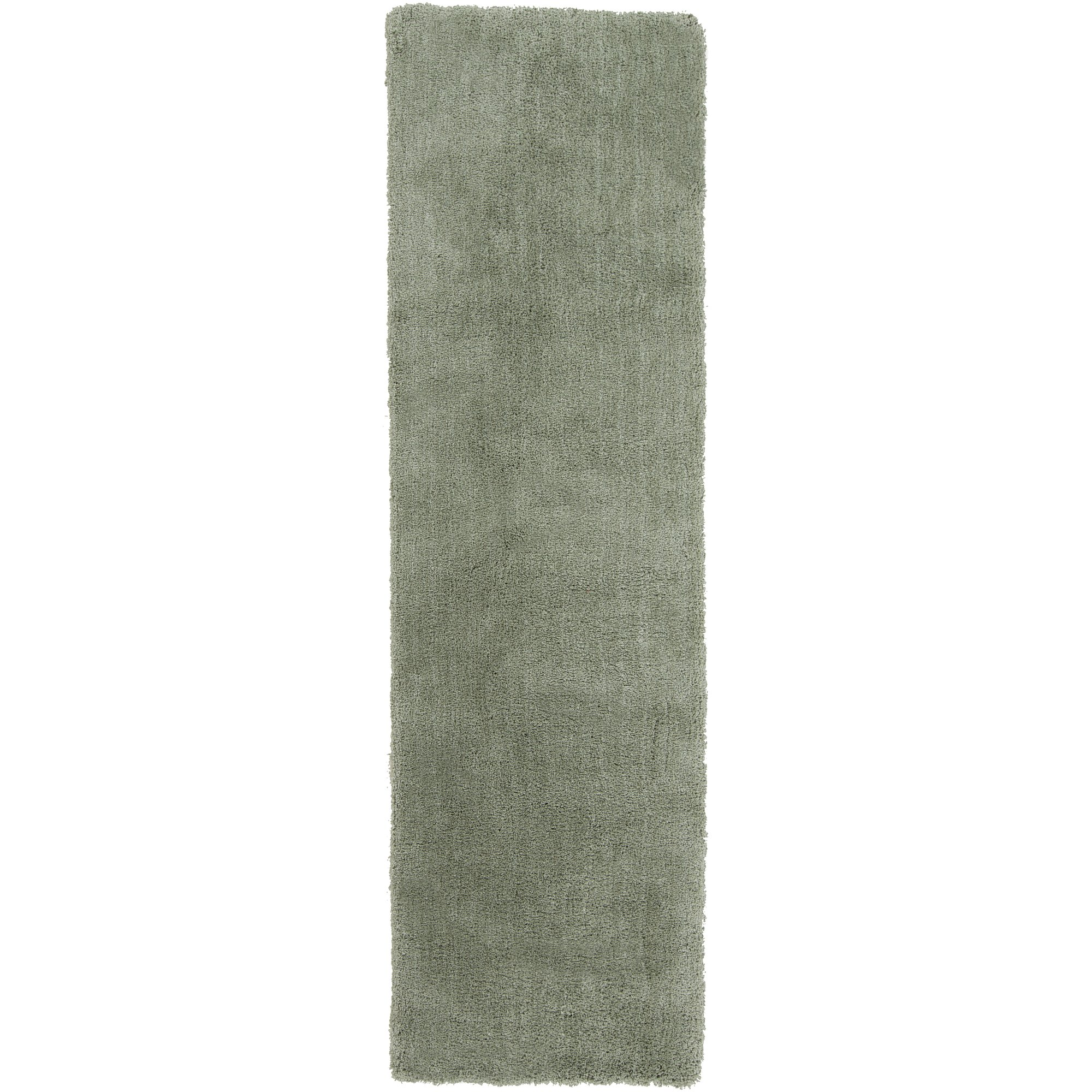 Surya Heaven HEA-8007 Shag Hand Woven 100% Polyester Malachite Green 2'3'' x 8' Runner