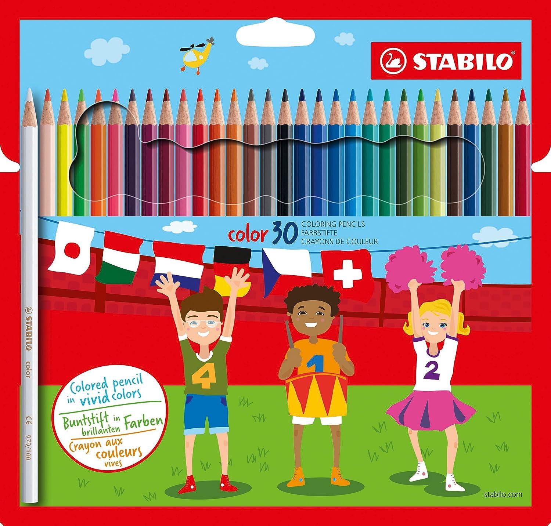STABILO color matite colorate colori assortiti - Astuccio da 30 1930/77-01